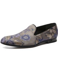 Gucci Floral Embroidered Smoking Slipper - Lyst