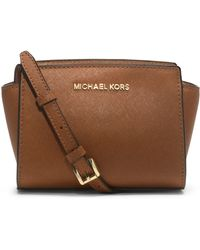 Michael by Michael Kors Selma Leather Mini Messenger Bag - Lyst