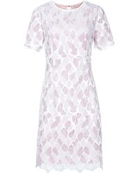 Reiss Anise Fitted Lace Dress - Lyst