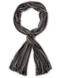 Missoni Skinny Zigzag Knit Scarf - Lyst