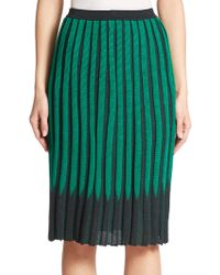 A Detacher Rib-Knit Pencil Skirt - Lyst