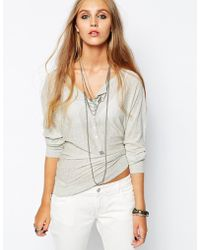Zadig & Voltaire Zadig and Voltaire Long Sleeve Top with Button Detail - Lyst