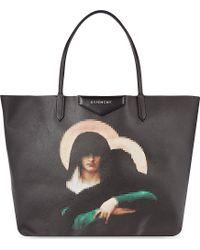Givenchy Antigona Madonna Medium Coated-Canvas Shopper - Lyst