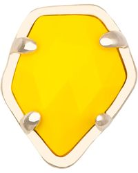 Kendra Scott Bright Yellow Opaque Glass Facet Charm - Lyst