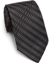 Armani Broken Diagonal Striped Silk Tie - Lyst