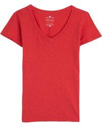 Velvet V-Neck Cotton T-Shirt - Lyst