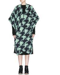 Acne Studios 'Aletta' Marble Alpaca-Wool Wrap Coat green - Lyst