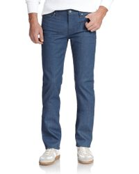 7 For All Mankind Slimmy Slim Straight-Leg Jeans blue - Lyst