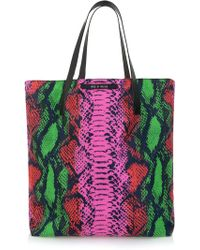 House Of Holland Tote Amaze Pink Snake  Yellow Viper - Lyst