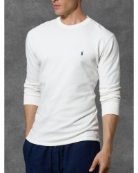 Ralph Lauren Waffle-Knit Crewneck Thermal - Lyst