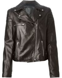 McQ by Alexander McQueen Black Biker Jacket - Lyst