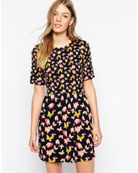 Oasis Bold Butterfly Patched Dress - Lyst