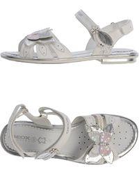 Geox Gray Sandals - Lyst