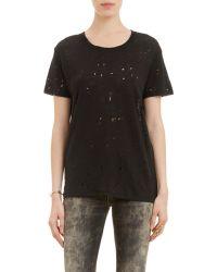IRO Hole-Distressed T-Shirt - Lyst