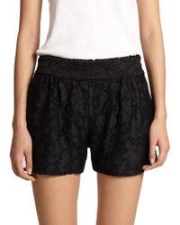 Diane von Furstenberg Madonna Woven Shorts - Lyst
