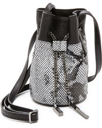 Halston Heritage Mini Bucket Bag - Black Multi - Lyst