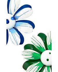 Carole Tanenbaum - 1960S Green, White, Blue Splattered Enamel Flower Unsigned Pins - Lyst