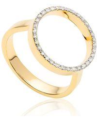 Monica Vinader - Diva Circle Open Diamond Ring - Lyst