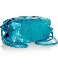 Tamara Mellon - Sunset Metallic Watersnake Shoulder Bag - Lyst