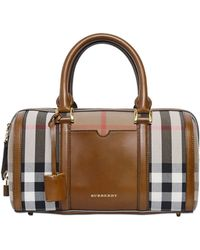 Burberry Medium Alchester Bridle Check Bag - Lyst