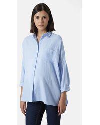 Topshop Oversized Chambray Maternity Shirt - Lyst