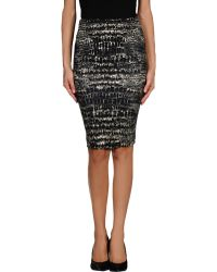 McQ by Alexander McQueen Knee Length Skirt - Lyst