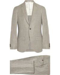 Hackett - Prince Of Wales Check Wool Suit - Lyst