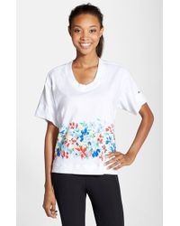 Adidas By Stella McCartney 'Graph' Organic Cotton Tee white - Lyst
