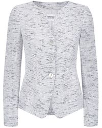 Armani Collarless Bouclã Jacket - Lyst