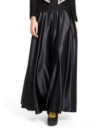 Polo Ralph Lauren Drawcord Satin Maxiskirt - Lyst