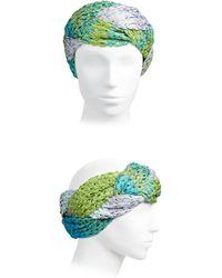 Missoni Knit Headband blue - Lyst