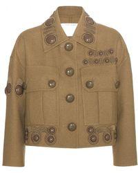 Marc Jacobs Embellished Wool-Blend Jacket brown - Lyst