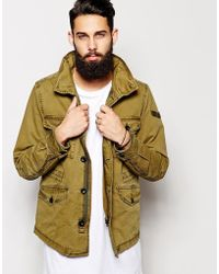 Diesel Akual Jacket Military Pockets - Lyst