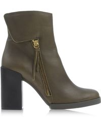 Miista Green Ankle Boots - Lyst