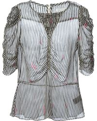 Etoile Isabel Marant Striped Ruched Blouse - Lyst