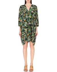 Saloni - Zadie Printed Silk Kaftan - For Women - Lyst