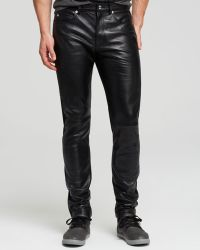 McQ by Alexander McQueen  Leather Slim Fit Jeans - Lyst