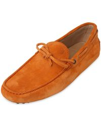 Tod's Gommino 122 Suede Driving Shoes - Lyst