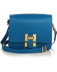 Sophie Hulme Box Flap Shoulder Bag - Lyst