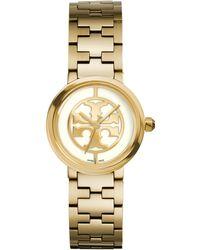 Tory Burch | Reva Goldtone Stainless Steel Bracelet Watch/ivory | Lyst