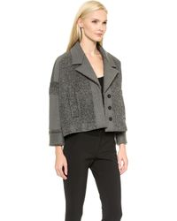 Viktor & Rolf - Curly Wool Jacket - Mid Grey - Lyst