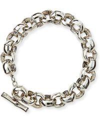 John Hardy Bamboo Silver Small Rolo Link Bracelet - Lyst
