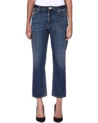 Acne Studios Pop Boyfriend Midrise Jeans Blue - Lyst