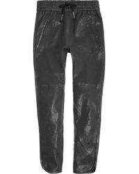 Isabel Marant Daniels Leather Track Pants - Lyst