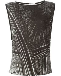 Helmut Lang Contrast Print Tank Top - Lyst