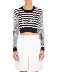 Thakoon - Crochet Crop Sweater - Lyst