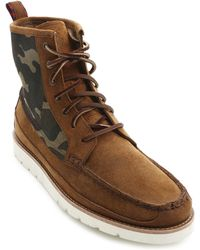 Polo Ralph Lauren Saddleworth Camel Suede Camouflage Boots - Lyst