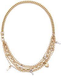 Marc By Marc Jacobs - Looped Multi Chain Necklace Oro - Lyst