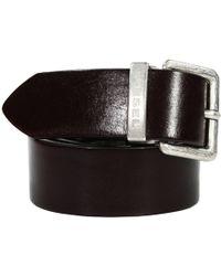 Diesel Belt Beres Buckle Metal Logo Leather - Lyst