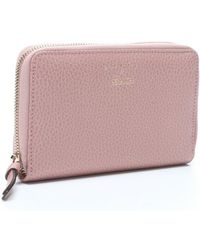 Gucci Soft Pink Leather Swing Zip Medium Wallet - Lyst